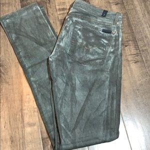 7 for all mankind Roxanne tie dyed skinnies